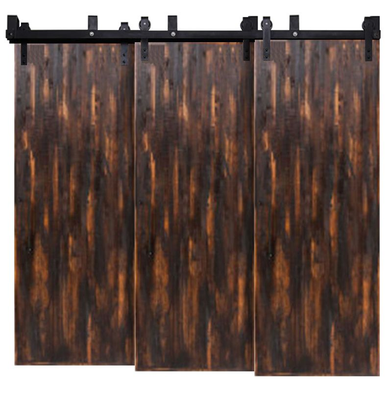 Vertical Rip Top Triple Bypass Barn Doors