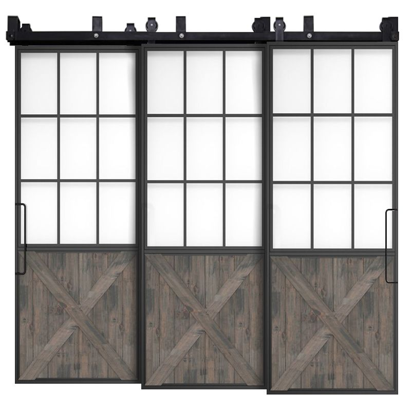 Mountain French Half X Triple Bypass Barn Doors