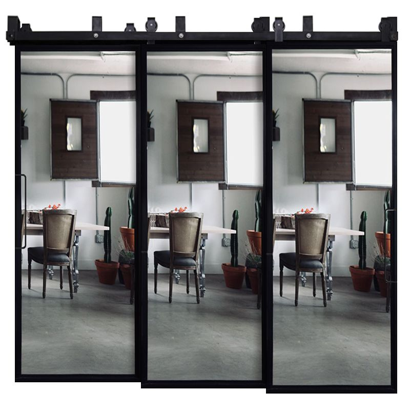 Ponder Mirror Triple Bypass Barn Doors
