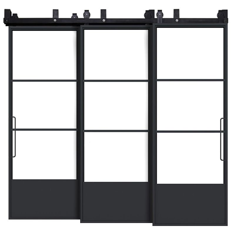 Traditional French Triple Bypass Barn Doors