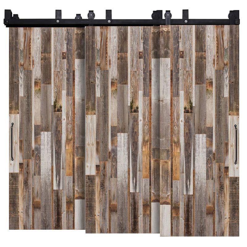 Vertical Barn Wood Reclaimed Triple Bypass Barn Doors