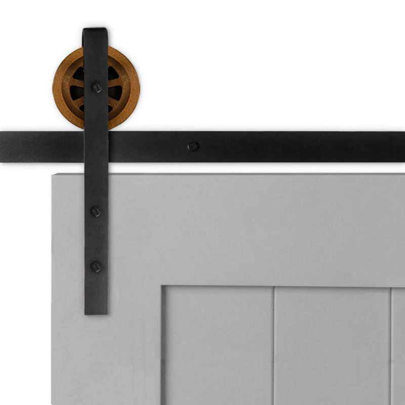 Artisan Strap Barn Door Hardware - Big Wheel