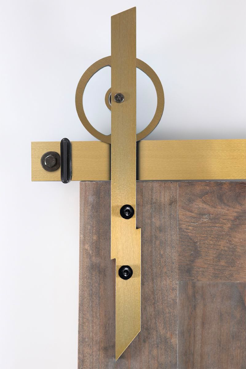 Static Barn Door Hardware - Big Wheel