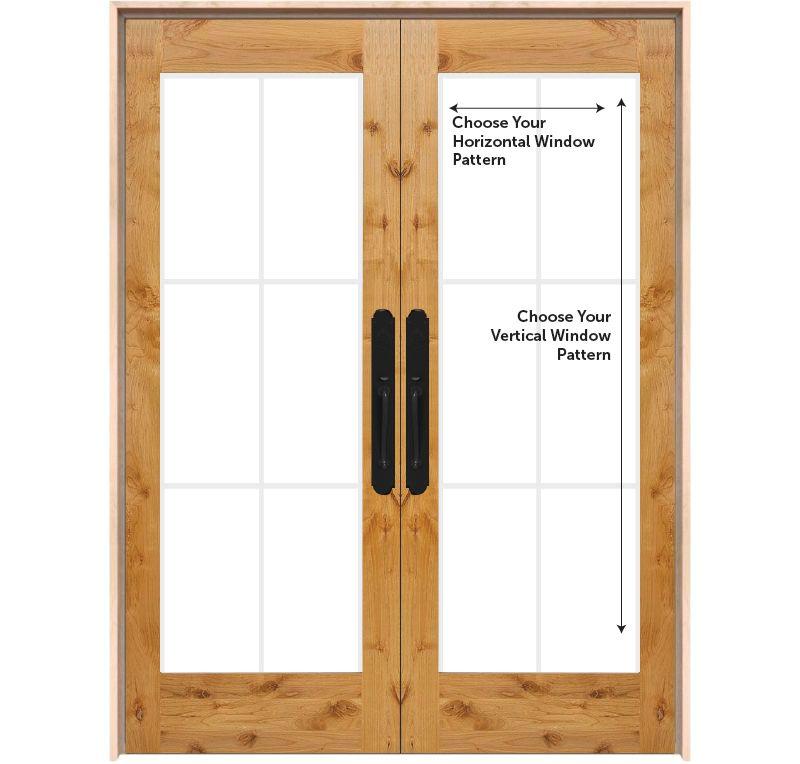 Customizable Exterior Wood Double Door