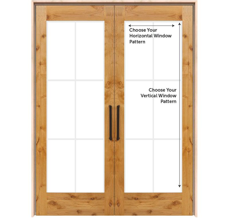 Customizable Double Interior Wood Door