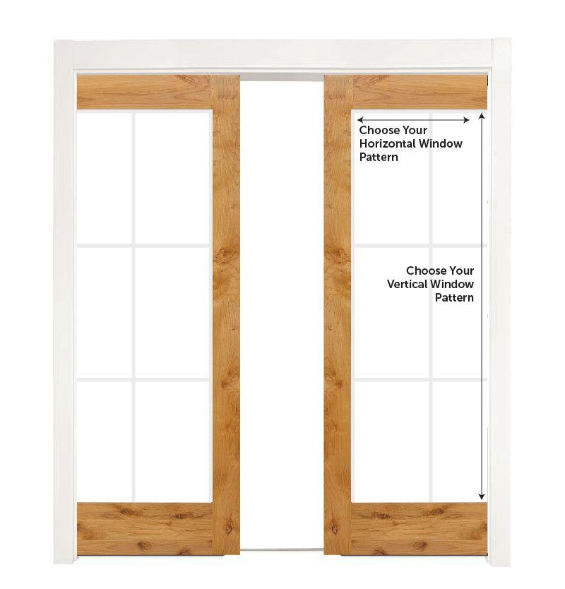 Custom Wood Converging Pocket Doors