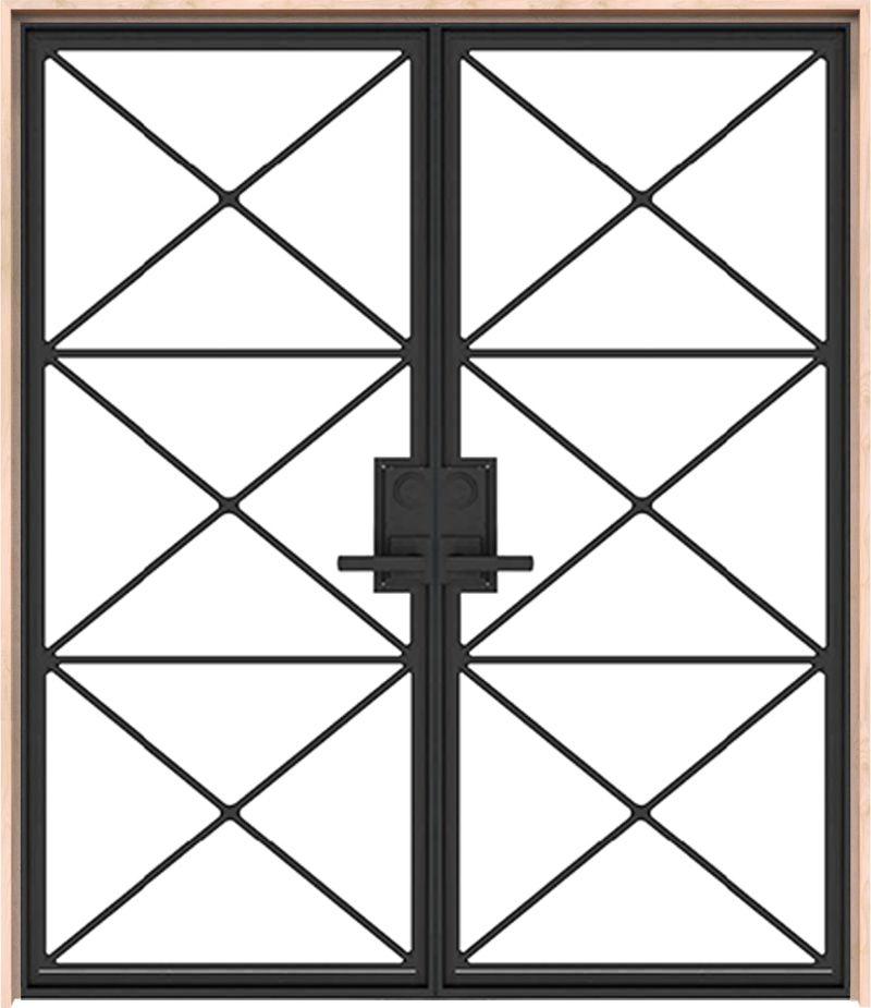 Noble Exterior Metal Double Door
