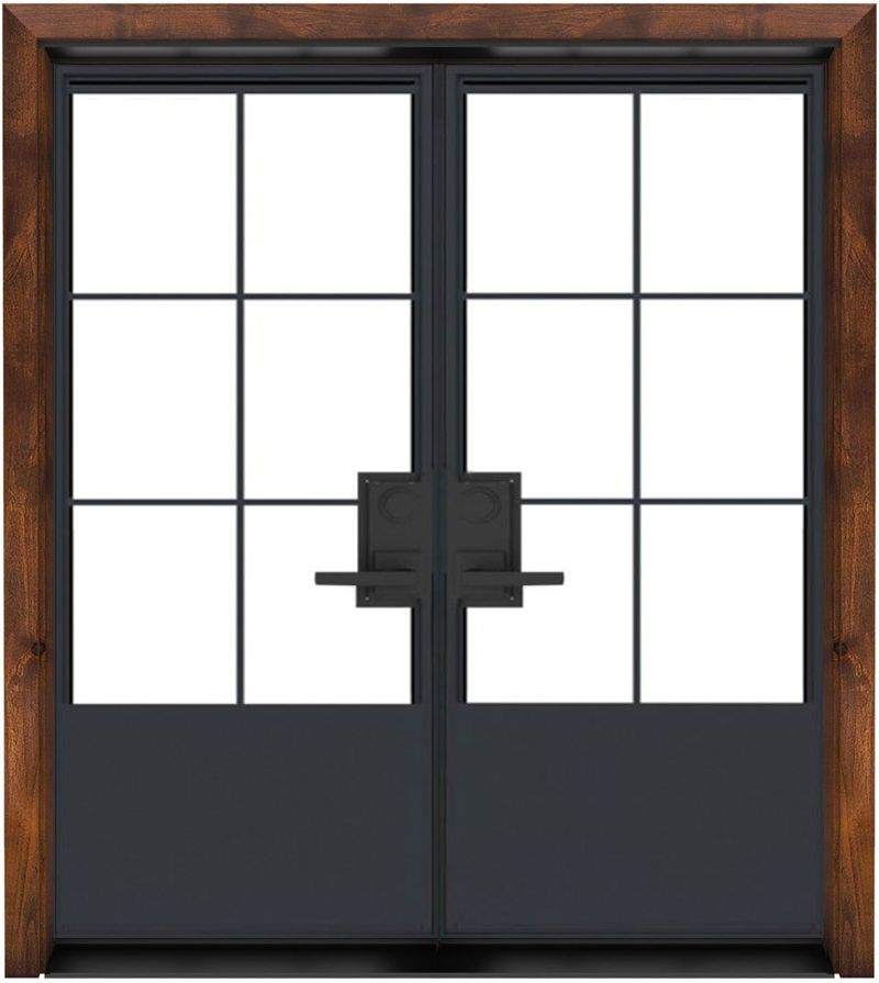 French Quarter Exterior Double Door