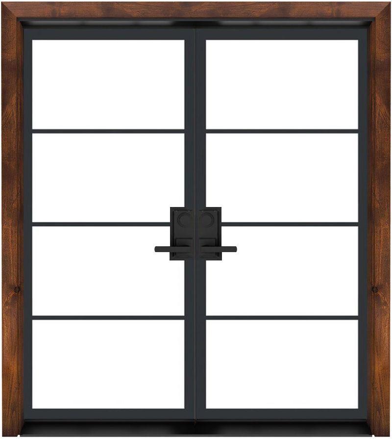 Modern Cottage Exterior Double Door