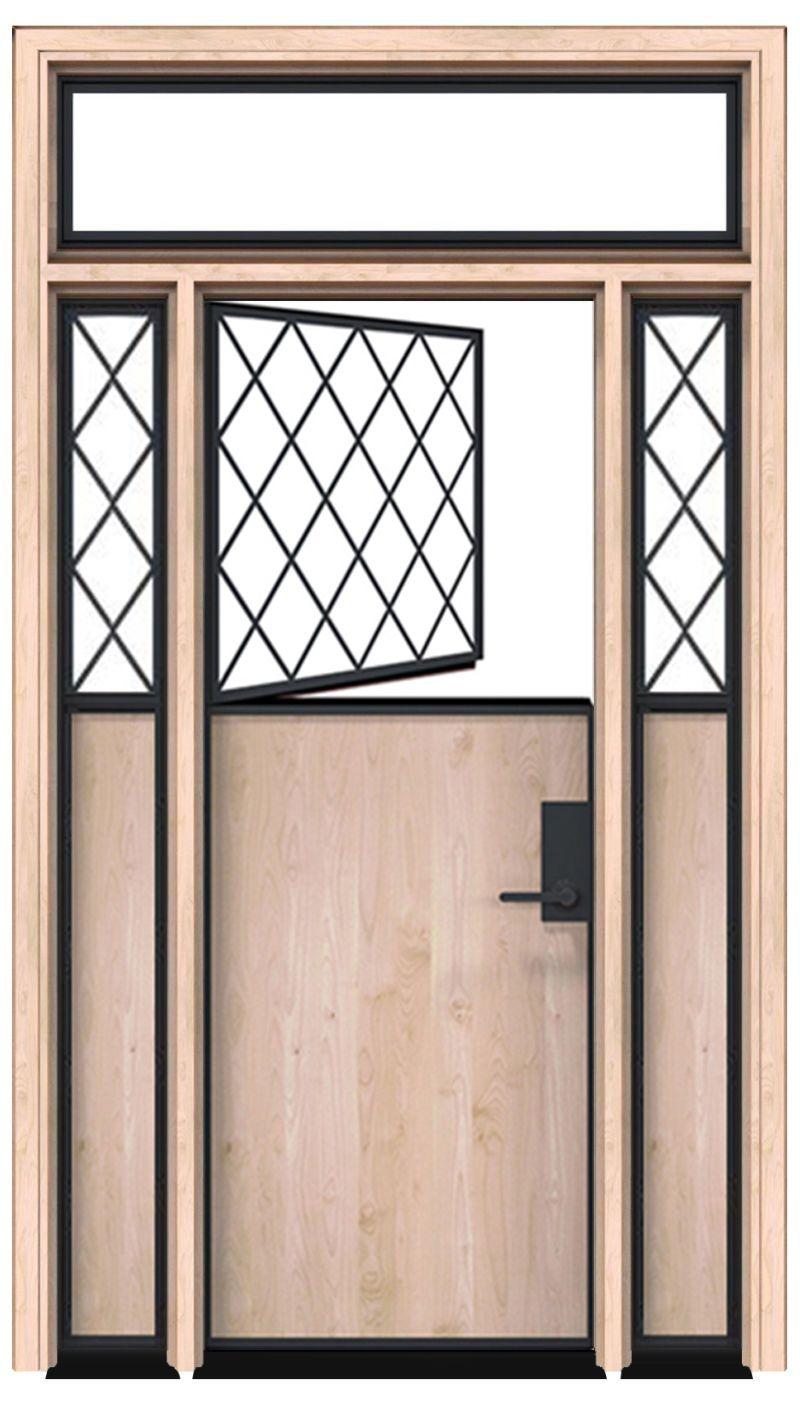Bridge Dutch Door With Sidelight