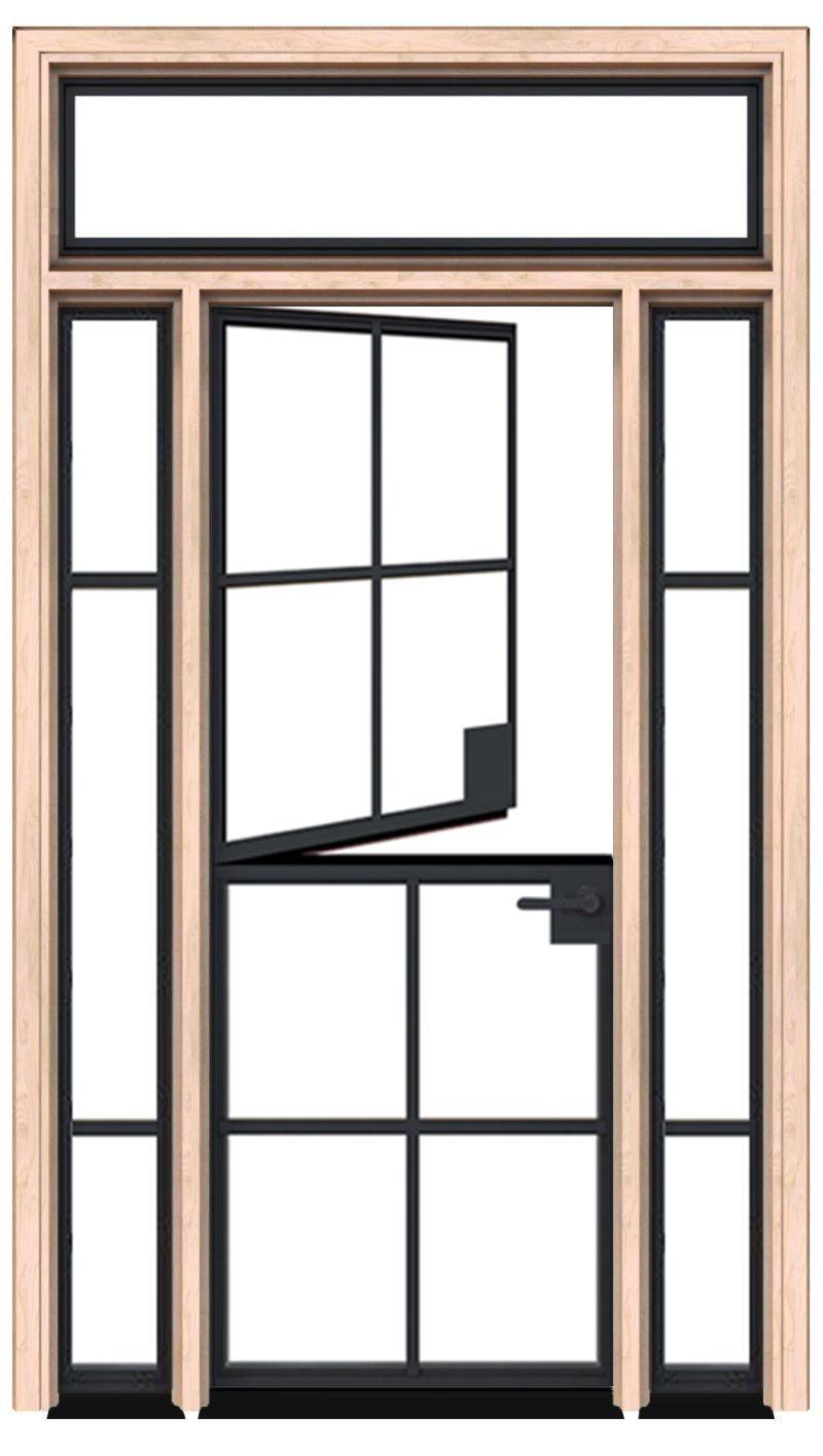 Grove Dutch Door With Sidelight