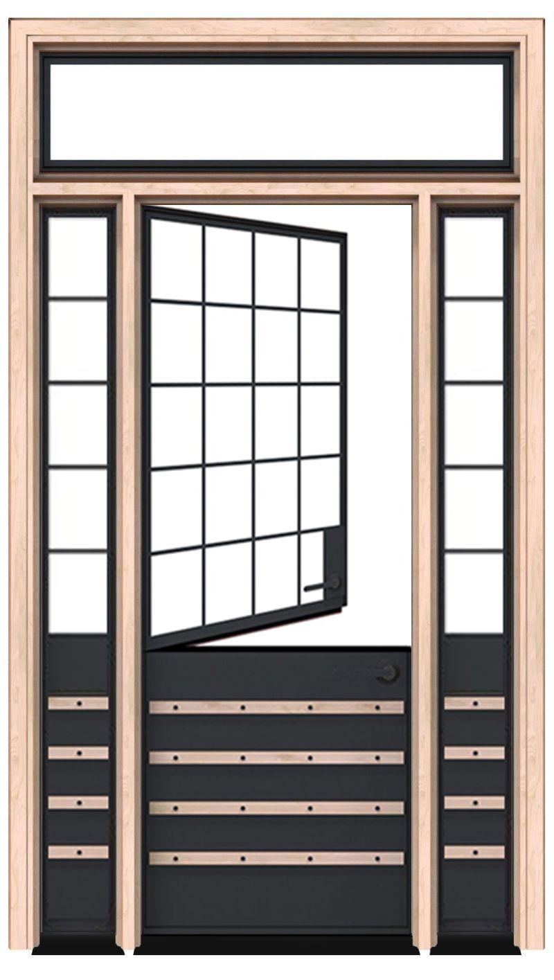 Port Dutch Door With Sidelight