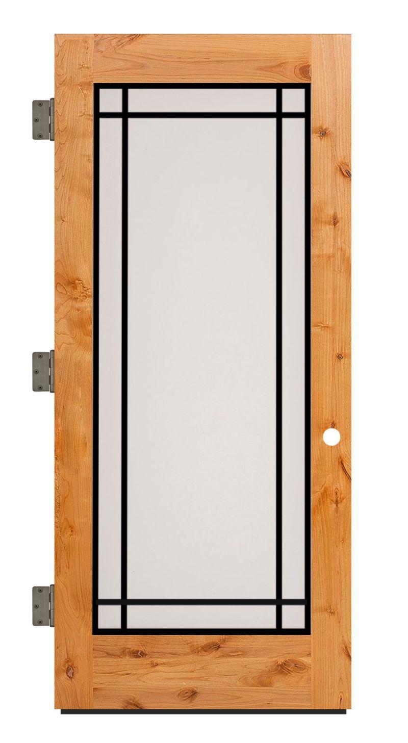 Prairie Exterior Slab Door
