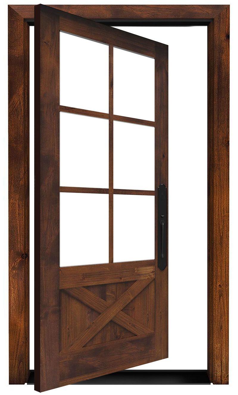 Cross Saw Exterior Pivot Door