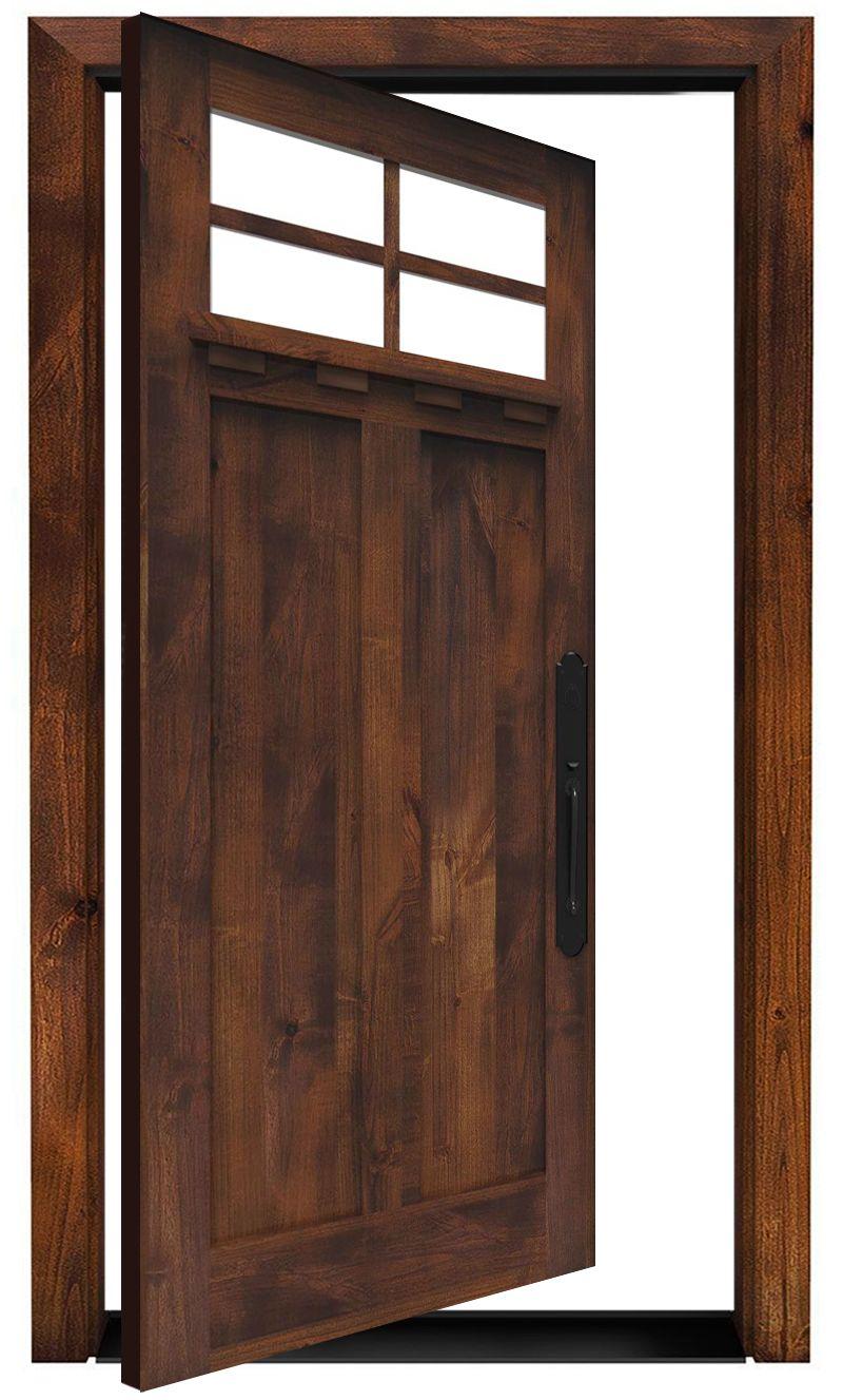 Left Fork Exterior Pivot Door