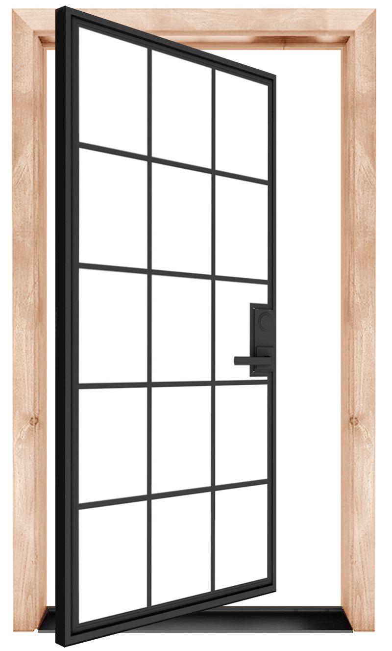 Mountain French Full Exterior Pivot Door