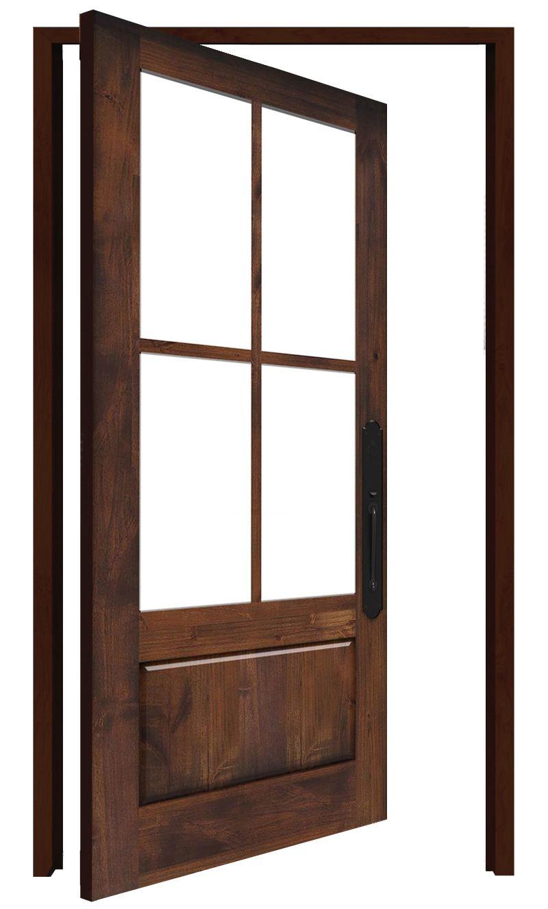Rustic Ranch Interior Pivot Door