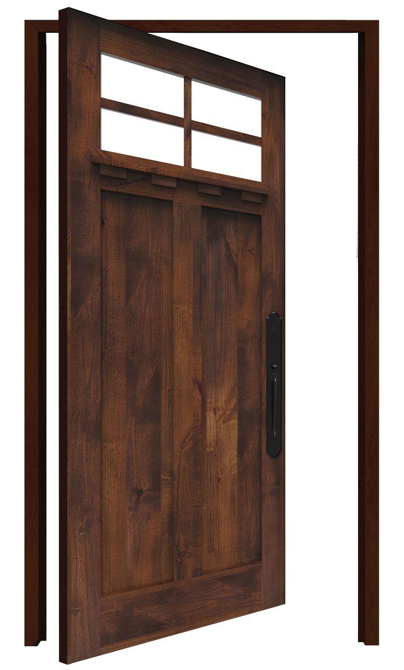 Left Fork Interior Pivot Door