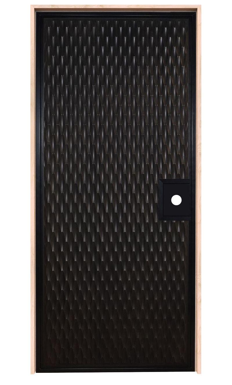 Scallop Textured Exterior Door