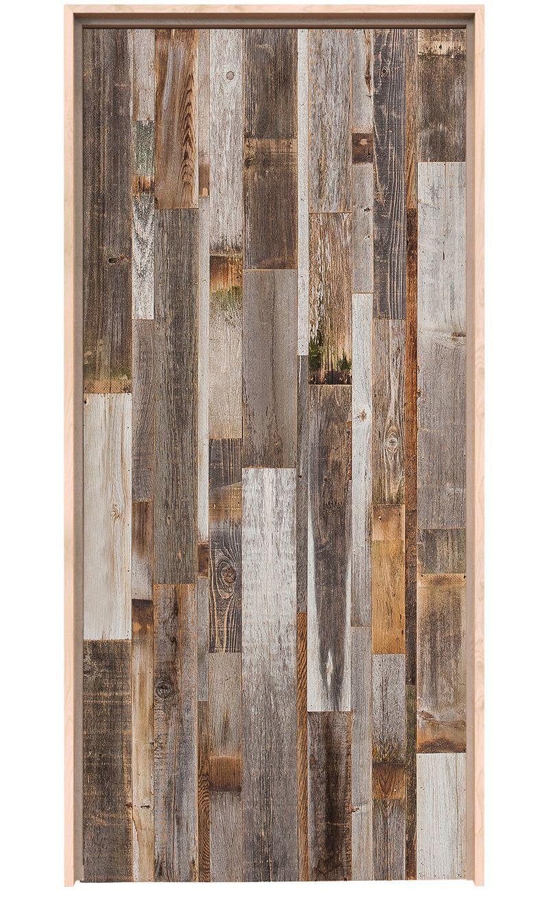 Vertical Barn Wood Exterior Door