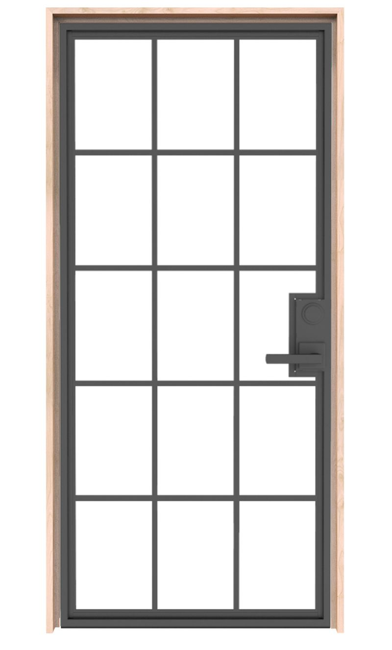 Mountain French Full Exterior Door