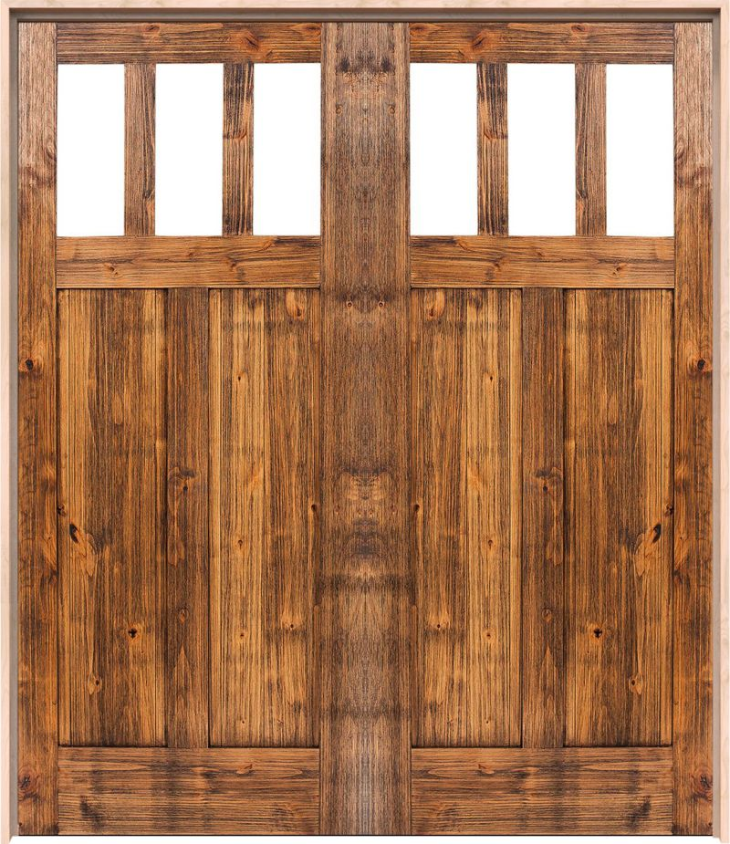 Craftsman Exterior Double Door