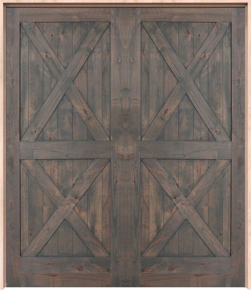 Double X Exterior Double Door