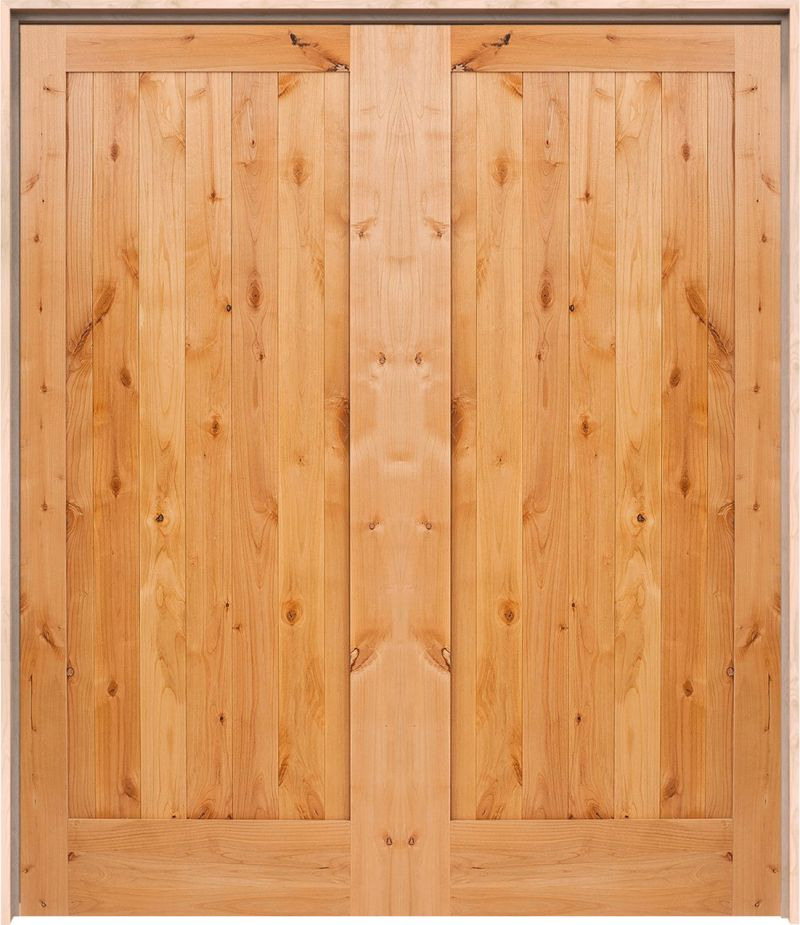 Vertical Lewiston Exterior Double Door