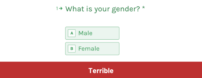 Asking about gender – the male/female binary