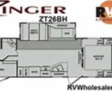 2012 Crossroads Zinger zt26bh