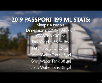 2019 Keystone Passport 199 mlwe