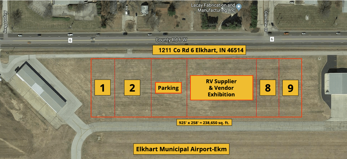 2018 Elkhart Dealers Show Main Campus Map