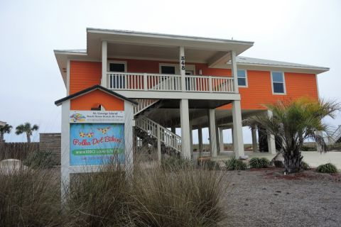 Polka Dot Bakini, vacation rental in St. George Island, House Rental, 4 bedroom 4 bathroom and sleeps 10