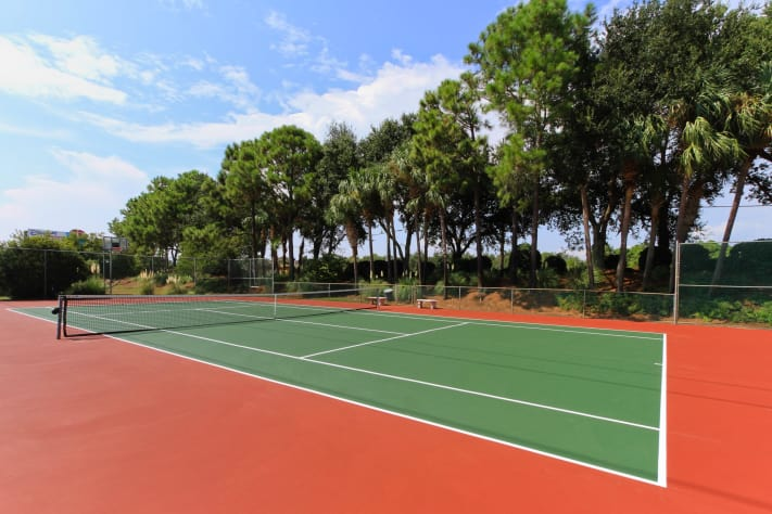 Tennis courts - basketball and shuffleboard too
