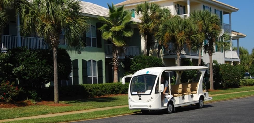Free SHUTTLE is offered seasonally to bring you to the beach pavilion as an added feature for our guests
