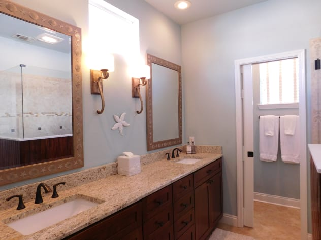 Master Bath with Double Vanity and Walk In Shower