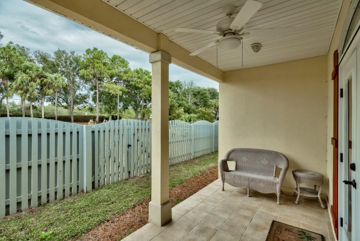 Back Porch with fenced yard