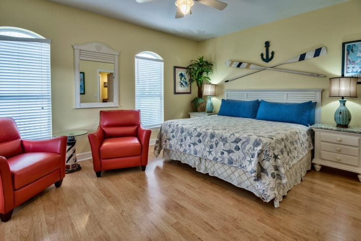 King Master Suite #3 on 2nd Floor with Private Balcony, 47 inch flat screen/dvd