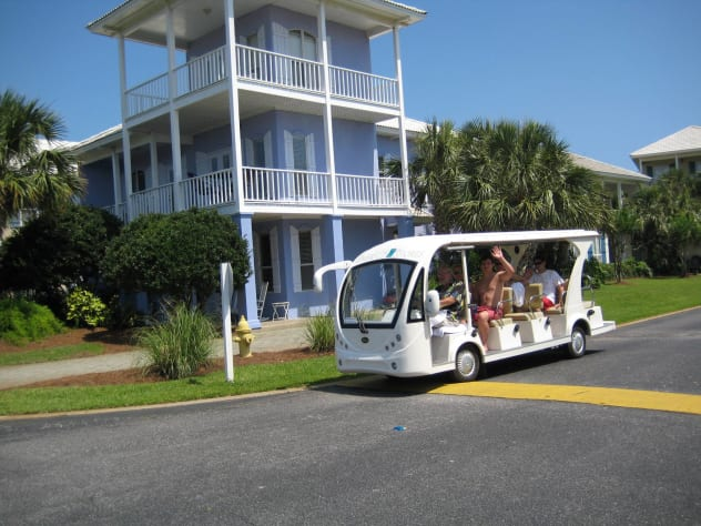 Free Beach Shuttle that operates seasonally
