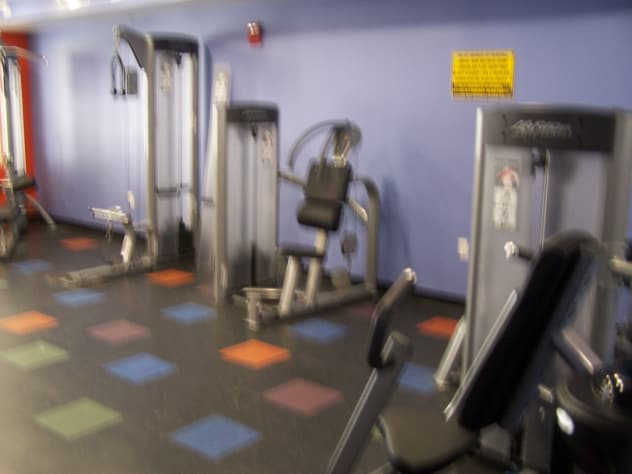one of the 3 rooms of fitness center