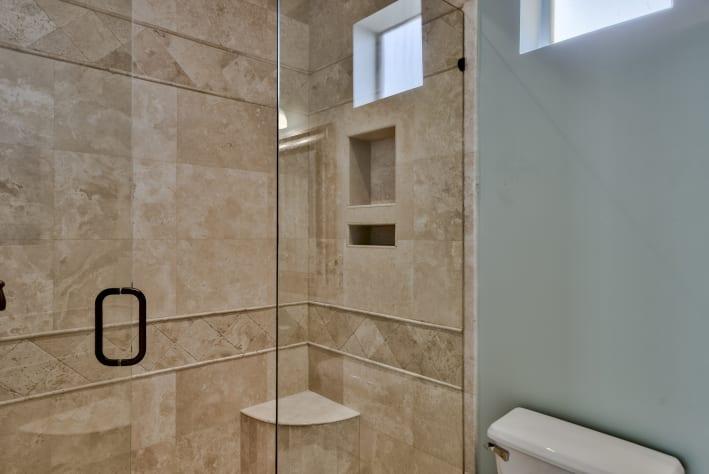 3rd Floor Master Bath with Travertine shower