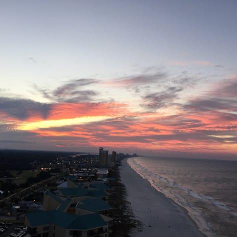 Sunrise from condo balcony