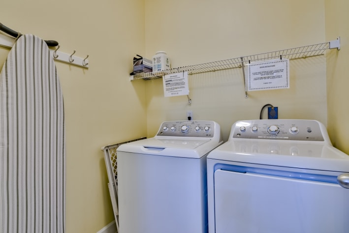 Upstairs full-size washer and dryer