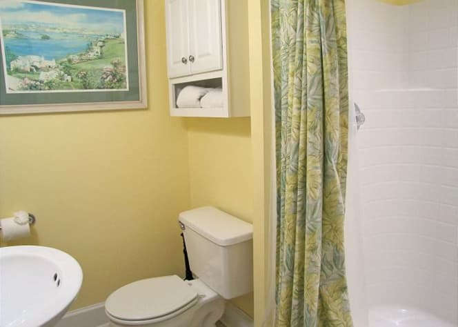 Full bathroom on main floor. Next to bedroom on main floor!
