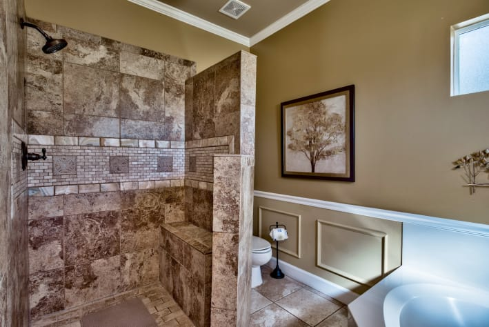Master bathroom with ADA shower