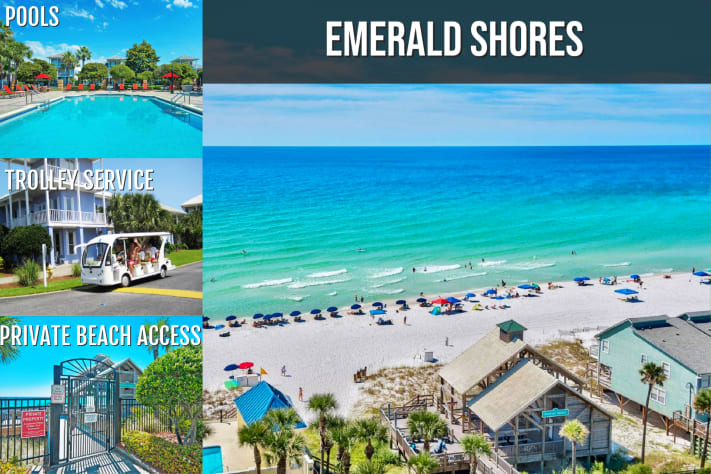 Emerald Shores Amenities: Private Beach Access, Pools, Trolley Service, & More!