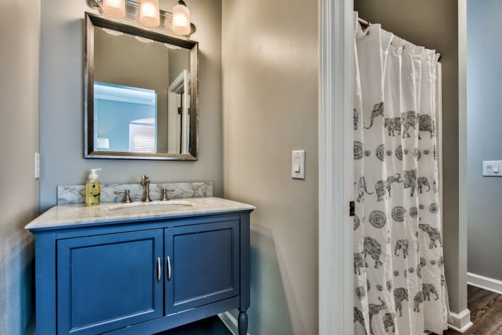 Shared Jack and Jill Bathroom with walk-in shower