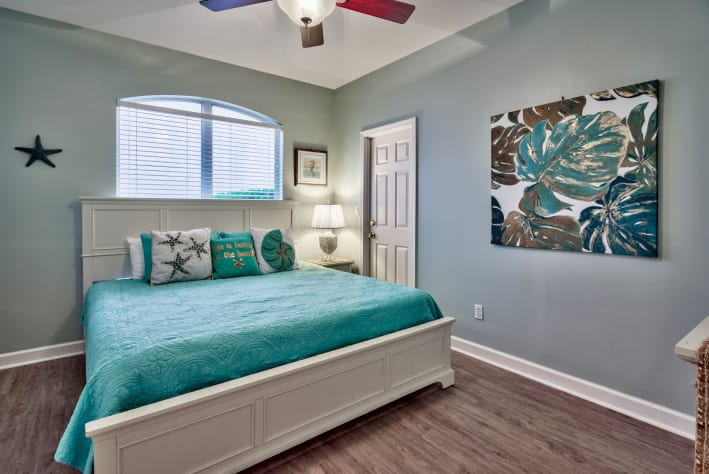 1st King Bedroom with ensuite bathroom and walk-in closet