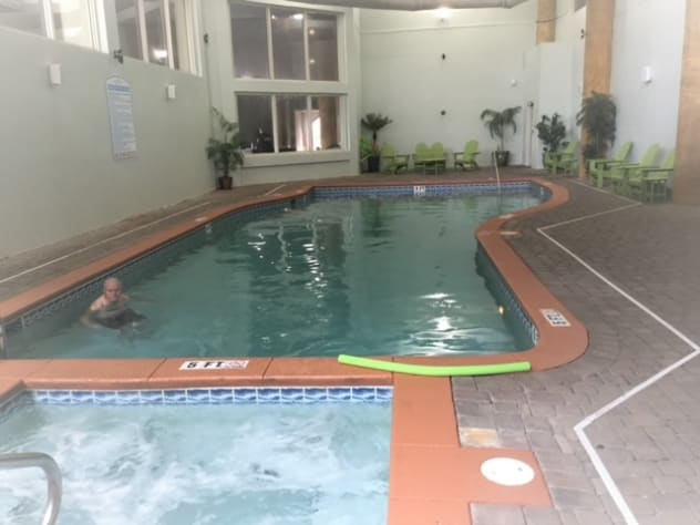 Indoor pool and hot tub are available.