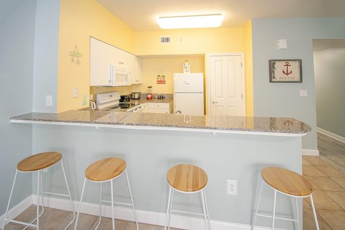 Kitchen countertop seating
